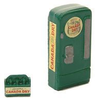 JL Custom Upright Soda Machine/Case Canada Dry Model Railroad Building Accessory HO Scale #748