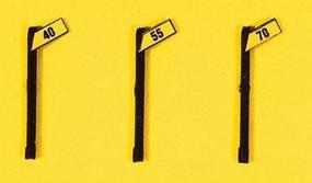 JL Custom High Speed Signs/Angled Style (3) Model Railroad Trackside Accessory HO Scale #844
