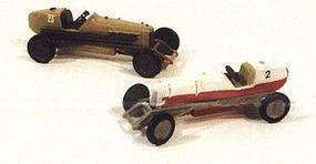 JL Gilmore Race Car Metal Kit (2) Model Railroad Road Accessory HO Scale #901