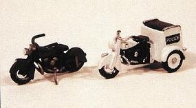 JL Motorcycles Classic 1947 Model Metal Kit Model Railroad Road Accessory HO Scale #903