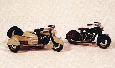 JL Innovative Design Motorcycles Classic 1947 Model Metal Kit -- Model Railroad Road Accessory -- HO Scale -- #904