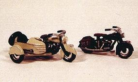 JL Motorcycles Classic 1947 Model Metal Kit Model Railroad Road Accessory HO Scale #904