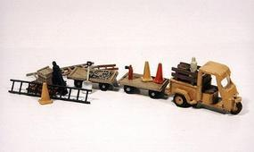 JL Deluxe Cushman Truckster/Carts & Detail Set Model Railroad Vehicle HO Scale #925