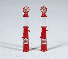JL Gravity Feed Gas Pump Red Crown Model Railroad Building Accessory HO Scale #932