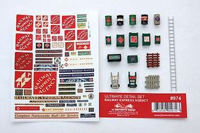 JL Ultimate Detail Set Railway Express Agency Model Railroad Building Accessory HO Scale #974