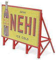 JL Custom Billboard 1940s Nehi Model Railroad Sign HO Scale #981