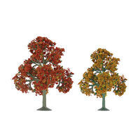 JTT Autumn Deciduous Trees O Scale Model Railroad Tree #92112