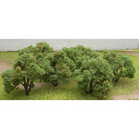 JTT Fruit Grove Orange Trees 6-Pack Model Railroad Tree #92121