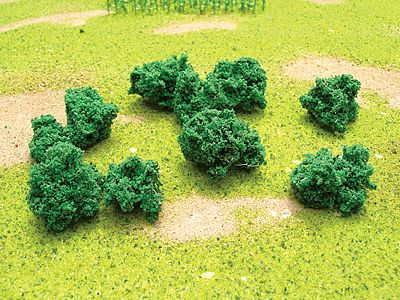 JTT Miniature Tree Foliage Clumps & Undergrowth -- Model Railroad Ground Cover -- #95062