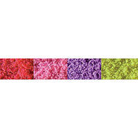JTT Medium Flower Colors Turf (red, pink, purple, yellow) Model Railroad Ground Cover #95146
