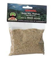 JTT Medium Gravel Beige Mix 7oz 200 grams Model Railroad Ground Cover #95229
