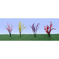 JTT Flower Bushes (red, pink, yellow, purple) O Scale Model Railroad Plant #95502