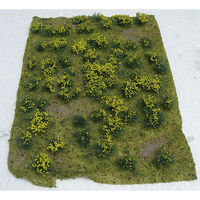 JTT Flowering Meadow Mat - Yellow Sheet Model Railroad Grass Mat #95605