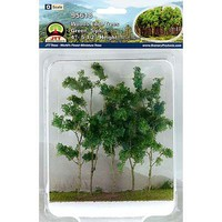 JTT Woods Edge Trees grn 5/ - O-Scale