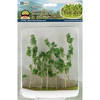 JTT Woods Edge Tree lt grn 8/ - O-Scale