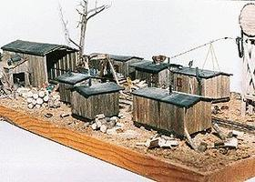 JV Boyd Logging Camp Wood Kit N Scale Model Railroad Buidling #1018