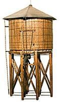 JV Branchline Wood Water Tower Kit HO Scale Model Railroad Building #2012