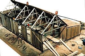 Ho Scale Hardwood Lumber Mill Plex Grade Crossings