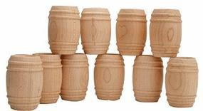 JV Wooden barrels 10/ - G-Scale (10)