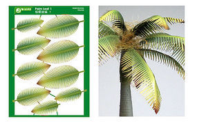 JsWorks Multi-Scale Typical Palm Leaves (Colored Paper)