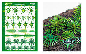 JsWorks Multi-Scale Tropical Jungle Fern & Palm Plants (Colored Paper)