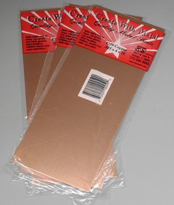 K S Bulk Of 3 Sheet Copper 025 4 X 10 259