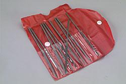 K & S Needle File Set w/Pouch (10 Assorted)
