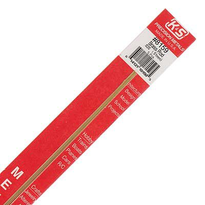 K & S .020''x12'' Solid Brass Rod (5)