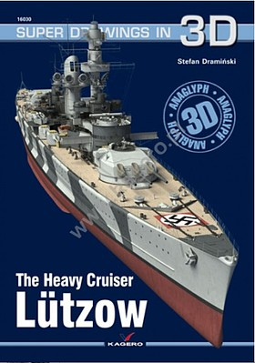 Kagero Books Super Drawings 3D- Heavy Cruiser Lutzow