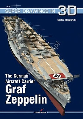 Kagero Books Super Drawings 3D- German Aircraft Carrier Graf Zeppelin