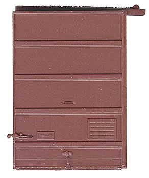 Kadee Quality Products 7' Five-Panel Box Car Door with Low Tack Board -- Red Oxide -- HO Scale -- #2240