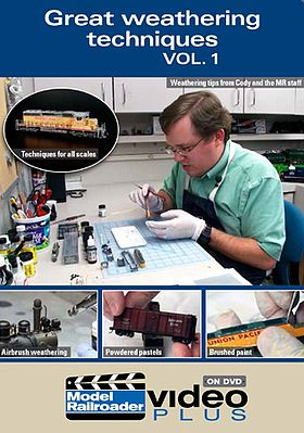 Kalmbach Great Weathering Technique DVD -- Model Railroading DVD -- #15323