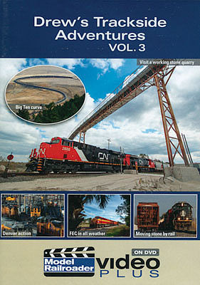 Kalmbach Publishing Model Railroader Video Plus DVD -- Drew's Trackside Adventures Volume 3