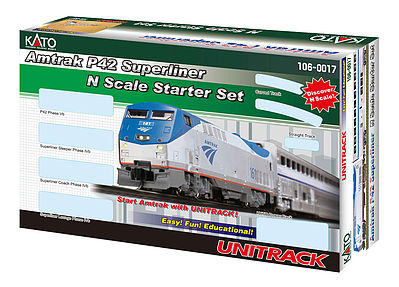 Kato USA Inc Amtrak Superliner Starter Set -- N Scale Model Train Set -- #1060017