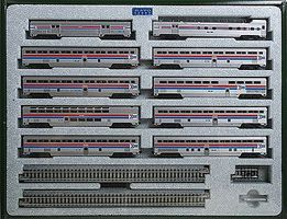 Kato El Capitan 10-Car Passenger Set - Amtrak N Scale Model Train Passenger Car #106079