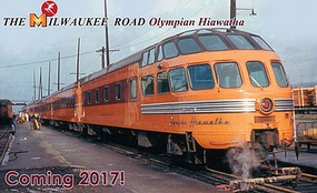Kato Olympian Hiawatha 9-Car Passenger Set - Post-1952 Version - Ready to Run Milwaukee Road (orange, maroon) - N-Scale