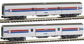 Kato Smoothside Baggage 2-Car Set C Amtrak (Phase I) N Scale Model Train #1063512