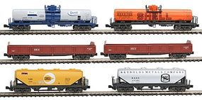 Kato Mixed Freight 6-Car Set - Ready to Run N Scale Model Train Freight Car Set #1066275