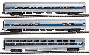Kato Intercity Express 3-Car Set - Ready to Run - Amtrak N Scale Model Train Passenger Car #1066286