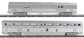 Kato El Capitan Coach, Storage Mail Car Set Santa Fe #2 N Scale Model Train Passenger Car #1067116