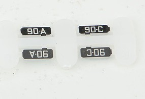 Kato Alternate Numberboards for Kato EMD FP7A Milwaukee Road #90A, 90C - N-Scale