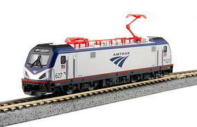 Kato Siemens ACS-64 Electric - Standard DC Amtrak #627 (silver, blue, red, Travelscape Logo) - N-Scale