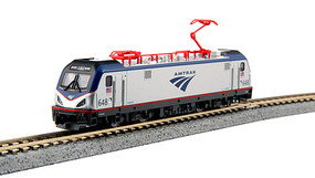 Kato Siemens ACS-64 Electric - Standard DC Amtrak #648 (silver, blue, red, Travelscape Logo) - N-Scale