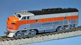 Kato Diesel EMD F3A - Powered w/Dual Headlights Western Pacific #802A (silver, orange) - N-Scale