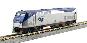 Kato GE P42 Genesis - DCC Amtrak #160 (Phase Vb Late, Low Stripe; silver, blue, gray) - N-Scale