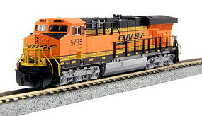Kato GE ES44AC GEVO - Standard DC BNSF Railway #5785 (orange, black, yellow, Wedge Logo) - N-Scale