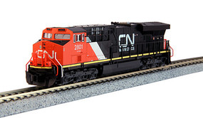 Kato GE ES44AC GEVO - Standard DC Canadian National #2801 (black, red, white) - N-Scale
