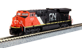 Kato GE ES44AC GEVO - Standard DC Canadian National #2825 (black, red, white) - N-Scale