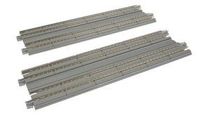 Kato Straight Double Concrete Slab Track - Unitrack N Scale Nickel Silver Model Train Track #20014