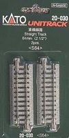 Kato Straight Track - 64mm (2) N Scale Nickel Silver Model Train Track #20030